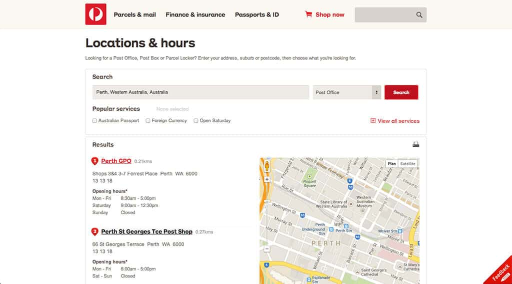 La poste restante en australie d couvre le monde for Trouver hotel proche adresse