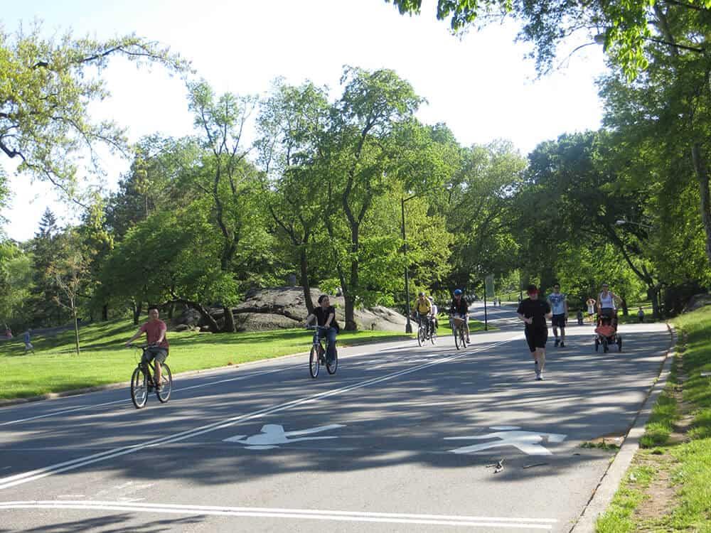 velos dans Central Park