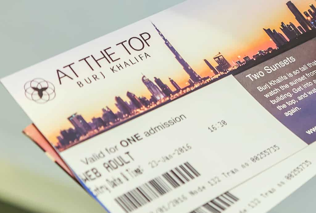 ticket burj khalifa