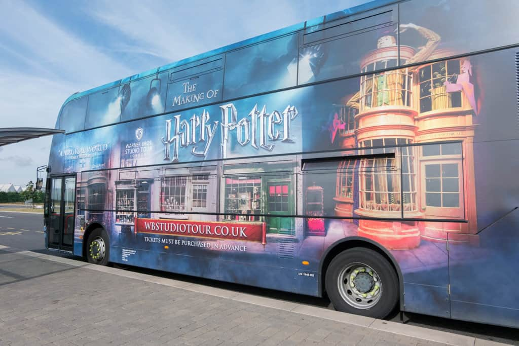 bus parc harry potter londres