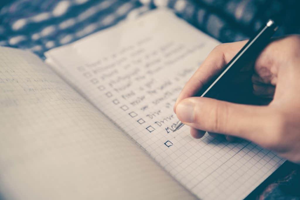 checklist pour voyager